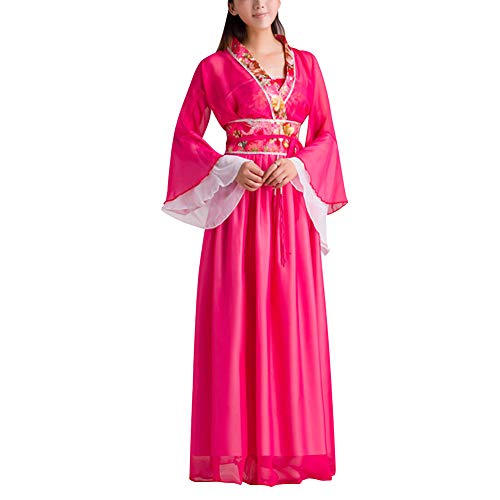 (uirend Women Chinese Ancient Traditional Performances Costume Fairy Girl Cosplay Rose)
