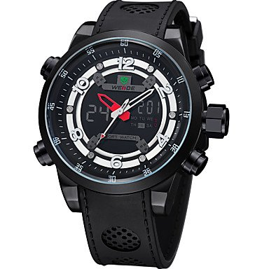 HWCOO Relojes WEIDE Hombre Reloj de Moda Reloj Deportivo Japonés Digital Calendario Resistente al Agua Esfera