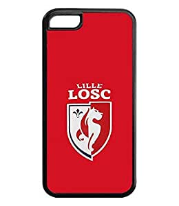 Sports Football Image Phone Case Cover Lille Olympique Football Logo, Iphone 5c Case Scratch Proof Plastic Skin Shell Stylish Design For Guys