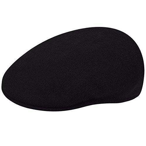 Kangol Men, Women USA Wool 504 Black XL (Kangol 504 Wool Cap Hat)