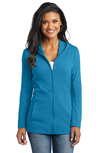 Port Authority Women's Modern Stretch Cotton Full Zip Jacket 3XL Mosaic Blue