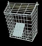 Letterbox Cage Door Letter Guard Basket Mail Catcher Post Box White 48h courier MarkUK® (White, 35x30x15cm Large)