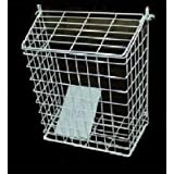 Letterbox Cage Door Letter Guard Basket Mail Catcher Post Box White MarkUK?? (White, 35x30x15cm Large) by Other