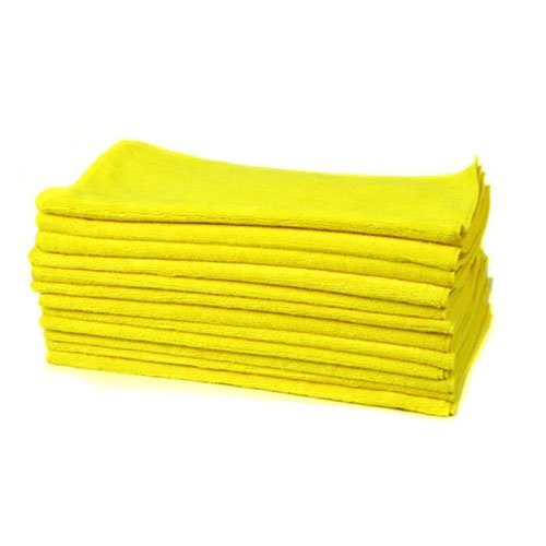 Chemical Guys MIC_MYELLOW_12 Workhorse Professional Grade Microfiber Towel, Yellow (16 in. x 16 in.) (Pack of 12)