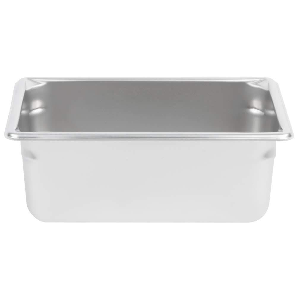 TableTop King 30442 Super Pan V 1/4 Size Anti-Jam Stainless Steel Steam Table/Hotel Pan - 4'' Deep by TableTop King