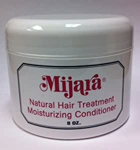 Amazon.com : Mijara  Natural Hair Treatment \u0026 Moisturizing Conditioner 8 oz. : Hair And Scalp