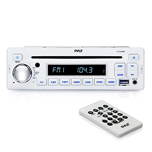 Pyle AM/FM-MPX IN-Dash Marine Receiver with CD Player, MP3/USB, Aux-In (PLCD35MR) - 03 Honda Accord Aux Converter