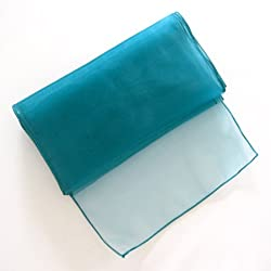 "OurWarm® 10PCS Organza Table Runner 12""x 108"" (Inch) Wedding Party Decor Favor Teal Blue"