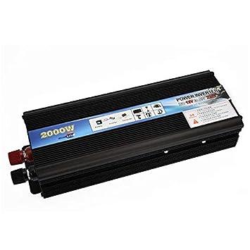 crewell 2000 W/4000 W Peak Car Power Inverter DC 12 V A 220 V AC USB Cargador convertidor Transformador para vehículos, Camiones Camper Pastilla: Amazon.es: ...