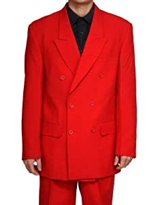 B001OGNG4G New Double Breasted (DB) Red Men's Business Dress Suit