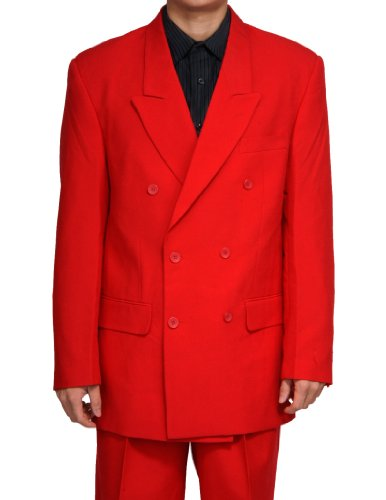 New Double Breasted (DB) Red Men's Business Dress Suit (Fancy Dress Outlet)