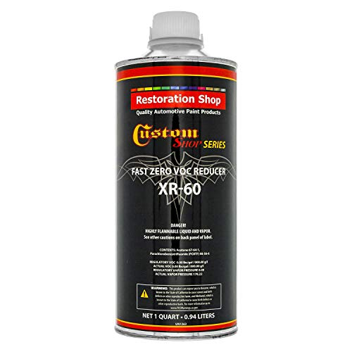 Restoration Shop/Custom Shop - XR60 Fast Zero V.O.C. Urethane Reducer (Quart/32 Ounce) for Automotive Paint and Industrial Paint Use for Low V.O.C. Compliance ()