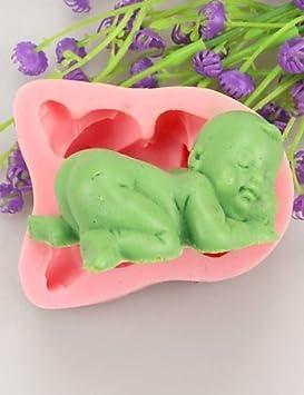 Bebé Jabón Moldes con forma de pastel de luna molde para tartas de fondant silicona para piruletas de Chocolate, decoración herramientas moldes: Amazon.es: ...