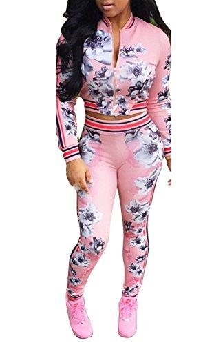 Ybenlow Womens Bodycon Sweatsuit Tracksuit