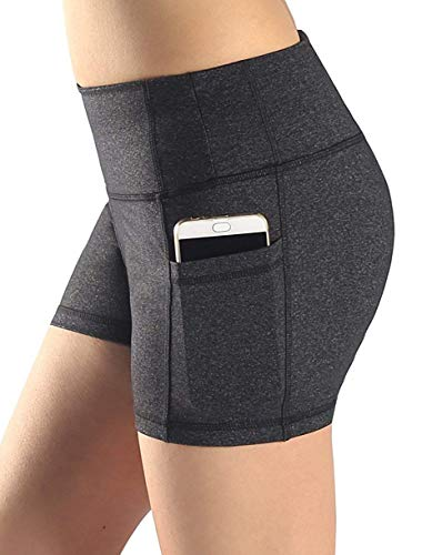 (Neonysweets Womens Yoga Short Pants Exercise Workout Running Shorts Grey S)