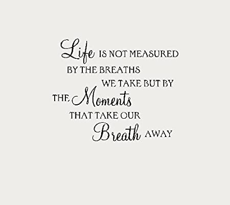Life Is Not Measured Quote Vinyl Wall Art Sticker Decal Wa13 Small