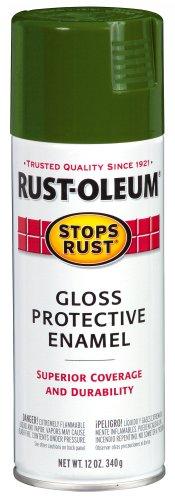 Rust-Oleum Stops Rust Spray Paint, Gloss Army Green, 12-Ounce