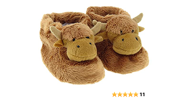 Scottish Highland Cow Baby Booties
