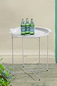 Sunjoy 110206035-w blanco bandeja mesa