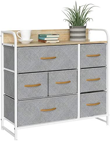 oneinmil 7 Drawers Dresser Fabric Storage Organizer