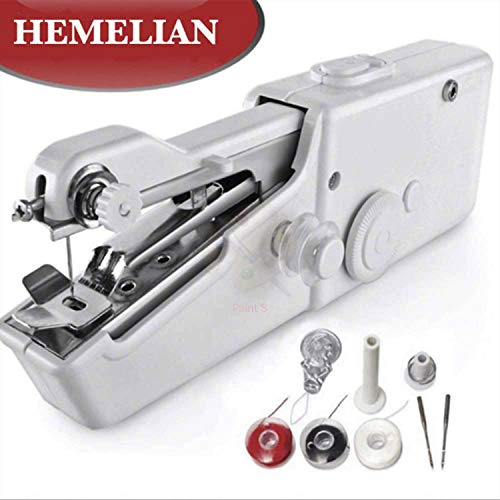 Hemelian Portable Sewing Machine, Mini Sewing Professional Cordless Sewing Handheld Electric Household Tool – Quick Stitch Tool for Fabric, Clothing, or Kids Cloth Home Travel Use