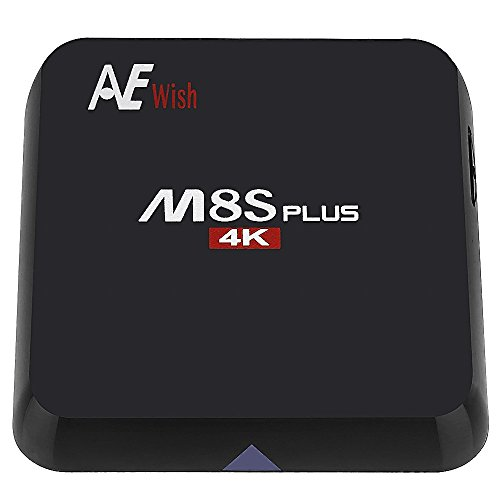 ANEWISH M8S Plus Android TV Box, M8S+ 2G/16G Amlogic S905 Quad Core 4K 1000M Gigabit Lan, Fully Loaded KD 16.0, Bluetooth 4.0 Dual 2.4G/5G Wifi Streaming Media Player (Android Xbmc Tv Box compare prices)