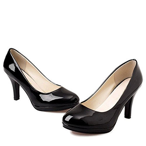 Nonbrand Women's Stiletto Heel Synthetic Court Shoes Black Br5cJQfkW