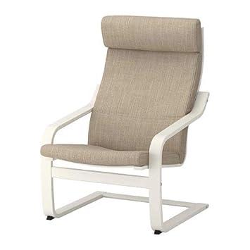 IKEA poäng sillón, Blanco, hillared Beige poang: Amazon.es ...