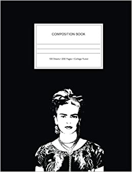 frida kahlo college composition notebook frida kahlo notebook a fine art composition notebook
