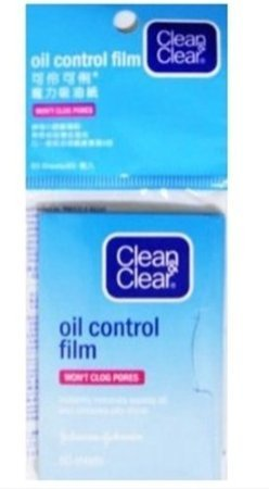 Clean & Clear Oil Control Film Facial Blotting Paper, 50-count Sheets (Pack of 4) by Clean & Clear