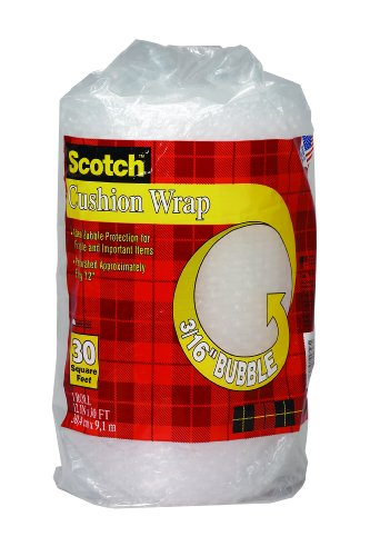 Scotch Bubble Wrap - Scotch Cushion Wrap, 12 Inches x 30 Feet (7929)