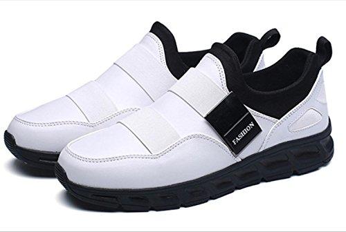 CSDM Uomini Nuovi sport di moda di moda di svago Scarpe di peluche luminose di Runnig di pallacanestro , white , 43