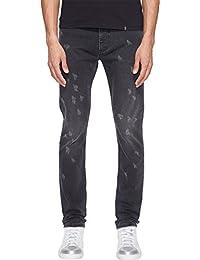 Mens Skinny Leg Destruction Jeans