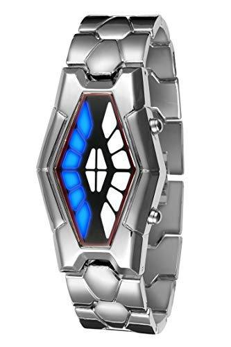 72 Led Blue Light Matrix Stainless Steel Watch
