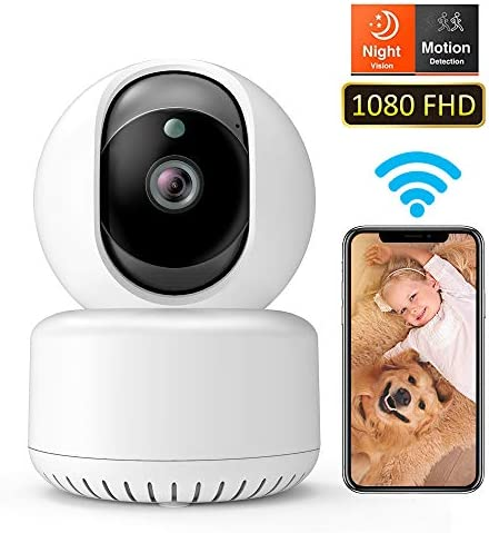DADYPET 1080P FHD WiFi Pet Camera, Wireless IP Security Home Surveillance Dome Camera with Night Vision Two-Way Audio Motion Detection for Baby Elder Pet