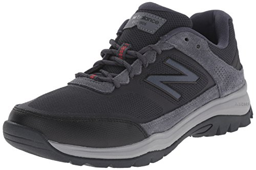 Men Walking Shoe (New Balance Men's MW669V1 Walking Shoe, Grey/Red, 10.5 D US)
