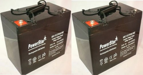 Powerstar 12V 55Ah INVACARE PRONTO M50 M6 M71 M91 M94 R2 ...