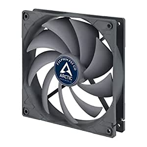 ARCTIC Standard Case Fan, Ultra Low Noise Cooler, Silent Cooler with Standard Case, Push- or Pull Configuration Possible Black/Grey 140 mm - F-Series