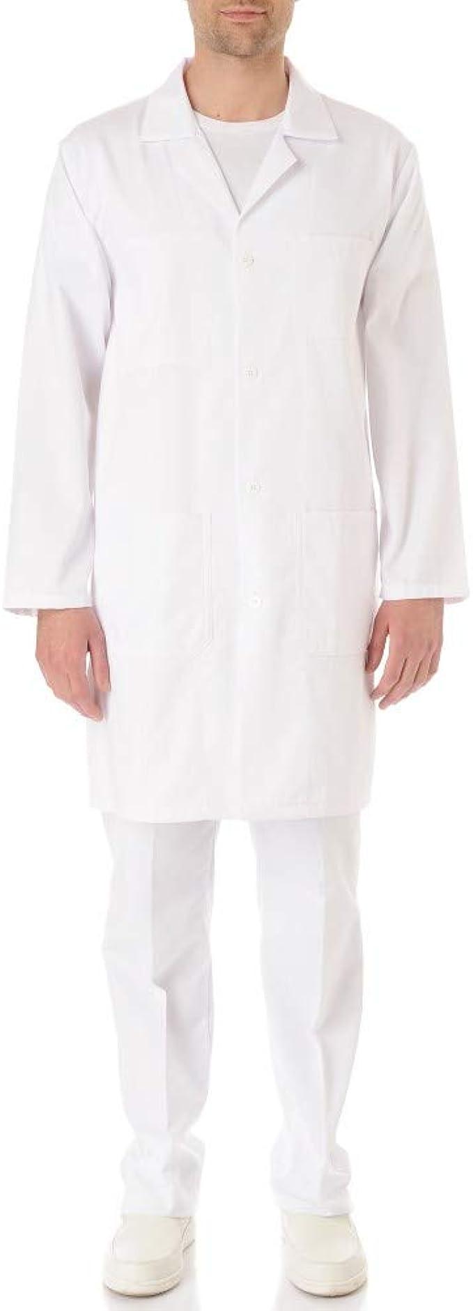 Bata química para laboratorio, 100% algodón, unisex, manga larga, para adulto/estudiantes, color blanco blanco XX-Small : Amazon.es: Ropa y accesorios