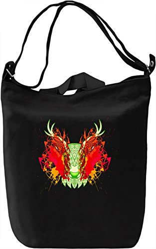 Fresh Stag Head Borsa Giornaliera Canvas Canvas Day Bag| 100% Premium Cotton Canvas| DTG Printing|