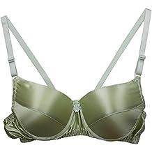 Farlenoyar Women Pure Silk Bra Soft Underwear Smooth Health Unpadded Bra Multi Size