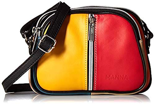 Mini Handbag for women. Small Genuine Leather Handbag. Handmade in Italy (Multicolour) ()
