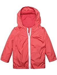 Zaclotre Kids Raincoat Waterproof Rainjacket with Hooded