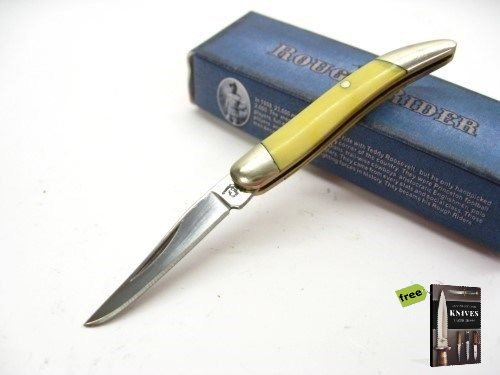 Free Mini Pick Set (ROUGH RIDER Yellow Handle Mini TOOTHPICK Straight Pocket Folding Knife + Free eBook by SURVIVAL STEEL)