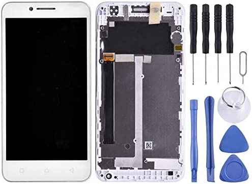 YANGJIAN LCD Screen and Digitizer Full Assembly with Frame for Lenovo Vibe C A2020 A2020a40 White