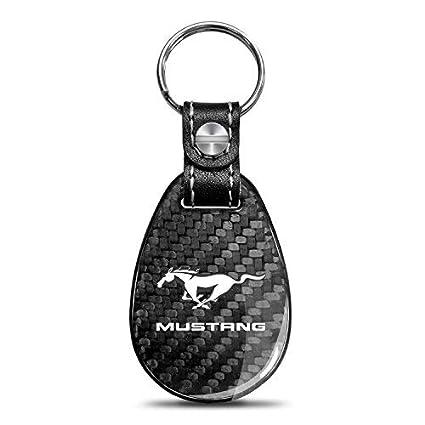 Ford Mustang - Llavero de fibra de carbono, color negro ...