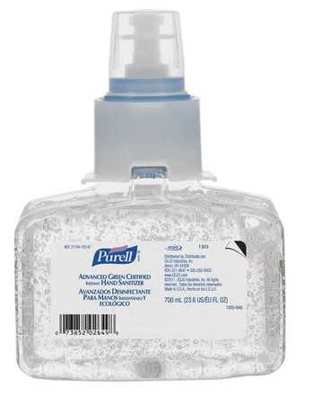 Hand Sanitizer Refill, Carton, Gel, PK3