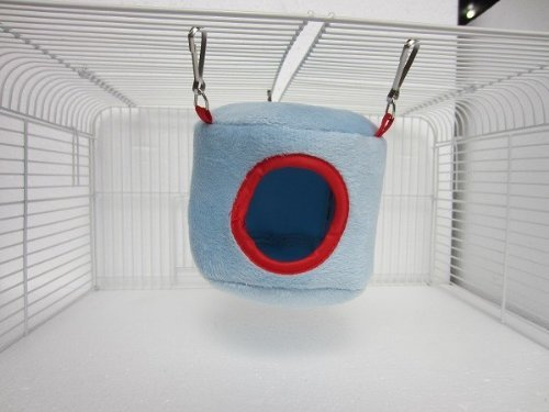 Blue Hammocks Hanging Bed House for Rat Bird Hamster Ferrets Parrot Mouse Toy hwydo