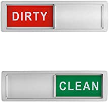 Dishwasher Magnet Clean Dirty Sign Shutter Only Changes When You Push It Non-Scratching Strong Magnet or 3M Adhesive...