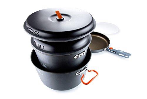 GSI Outdoors Pinnacle Base Camper Outdoor Cook Set, Large (Fry Pan Rei)